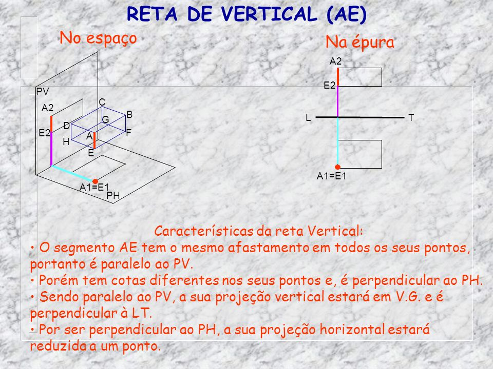 Características da reta Vertical:
