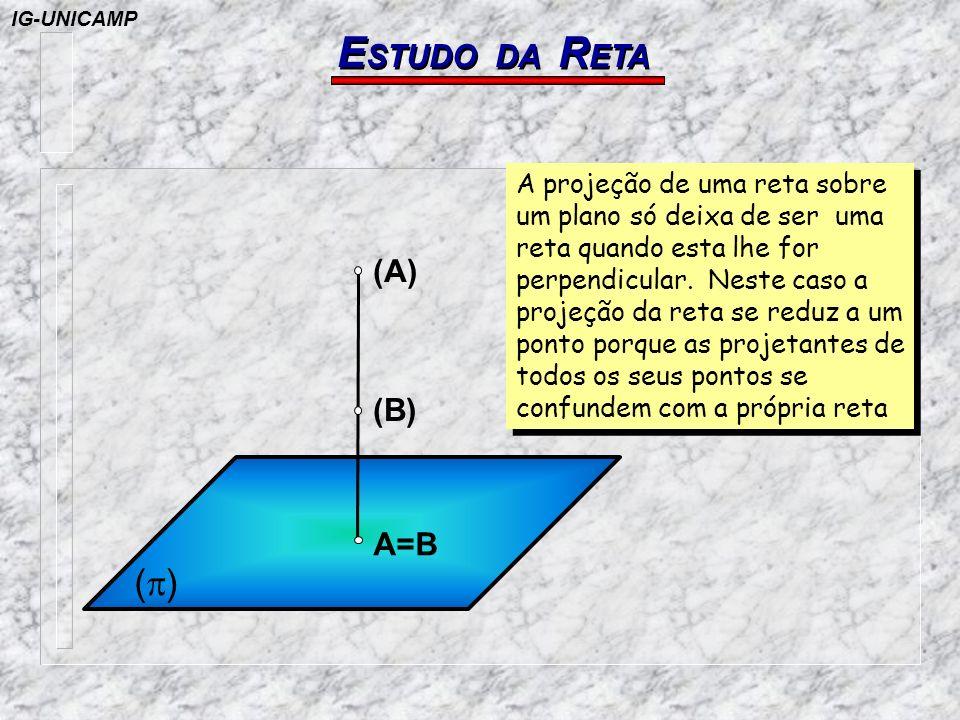 ESTUDO DA RETA (p) (A) (B) A=B