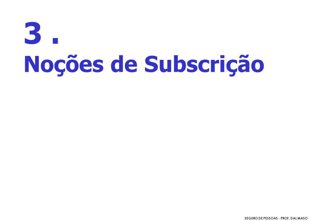 3 . Noções de Subscrição