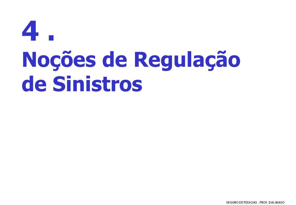 4 . Noções de Regulação de Sinistros