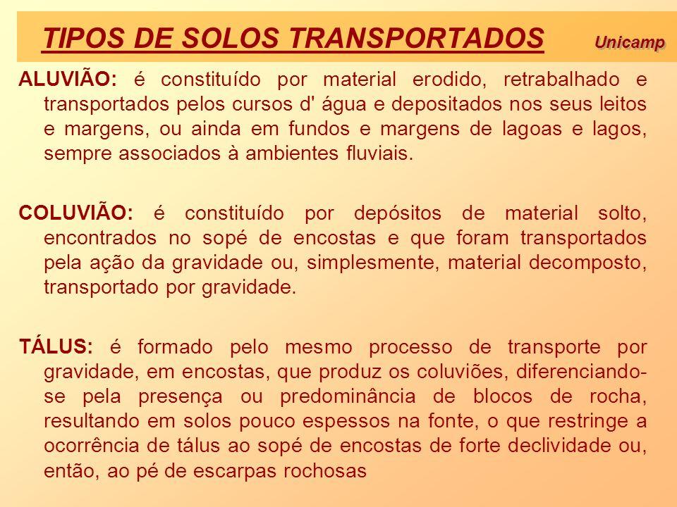 TIPOS DE SOLOS TRANSPORTADOS