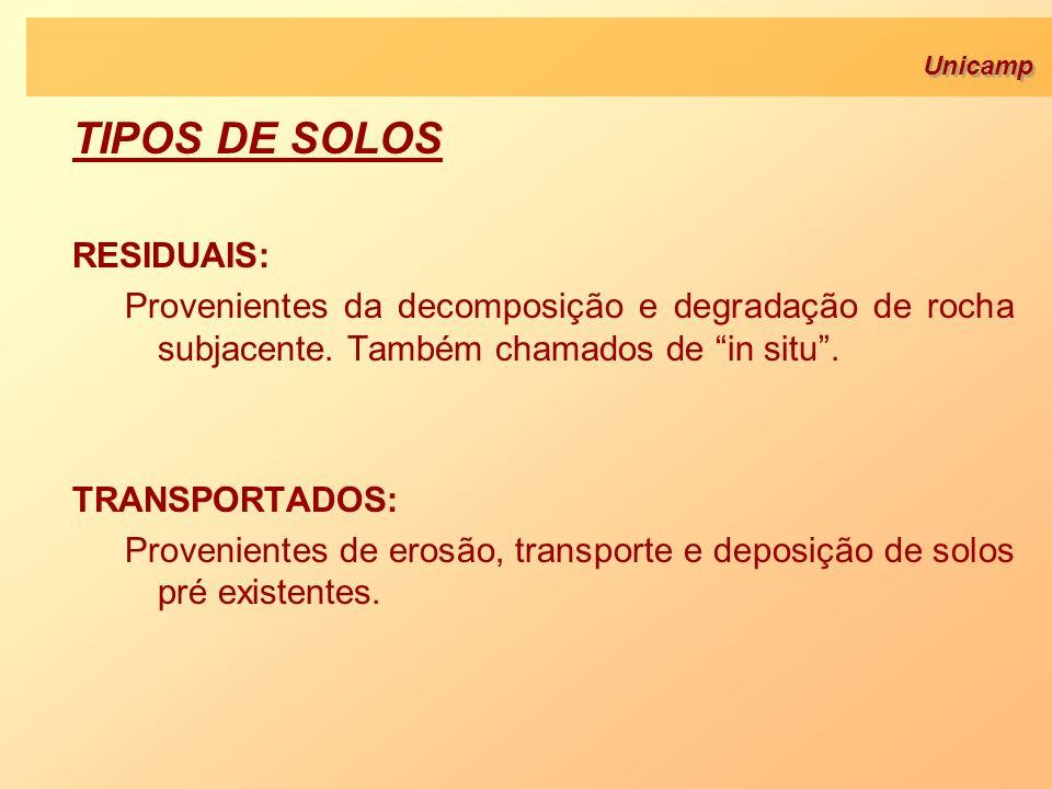 TIPOS DE SOLOS RESIDUAIS: