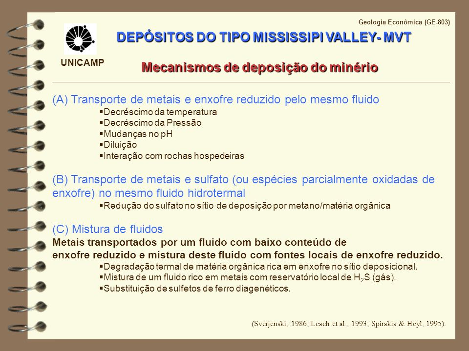 DEPÓSITOS DO TIPO MISSISSIPI VALLEY- MVT