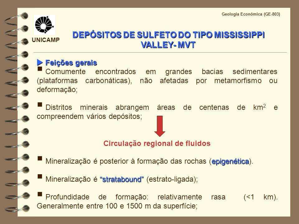 DEPÓSITOS DE SULFETO DO TIPO MISSISSIPPI VALLEY- MVT