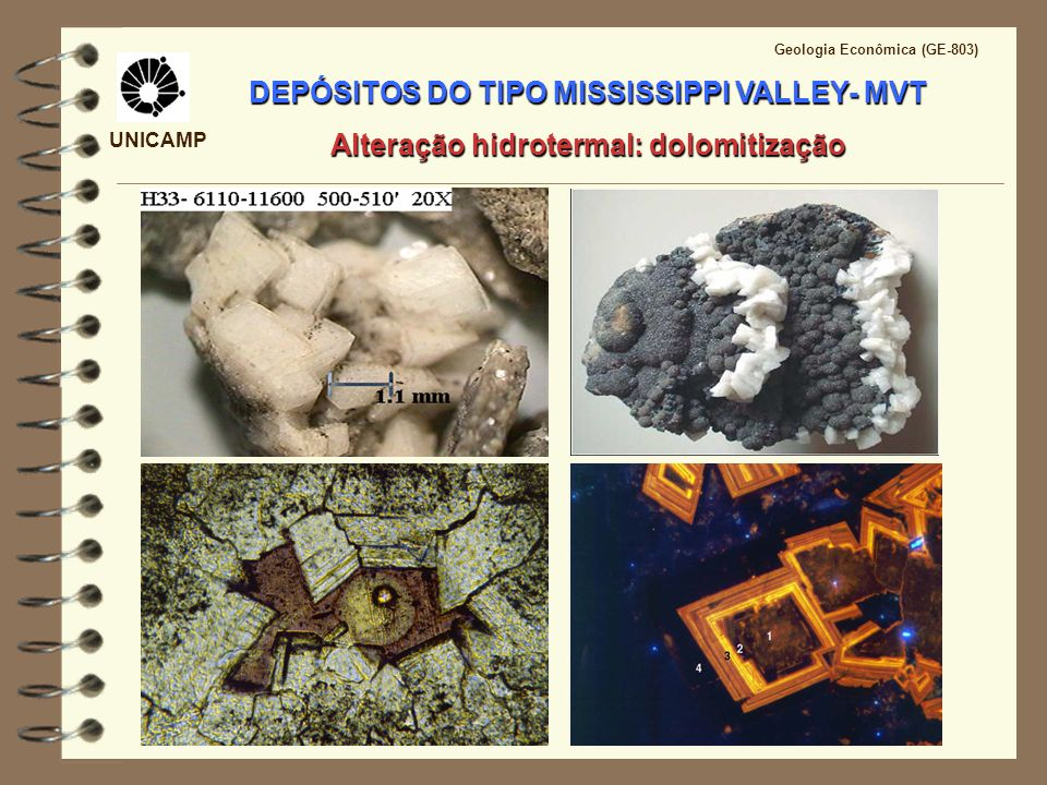 DEPÓSITOS DO TIPO MISSISSIPPI VALLEY- MVT