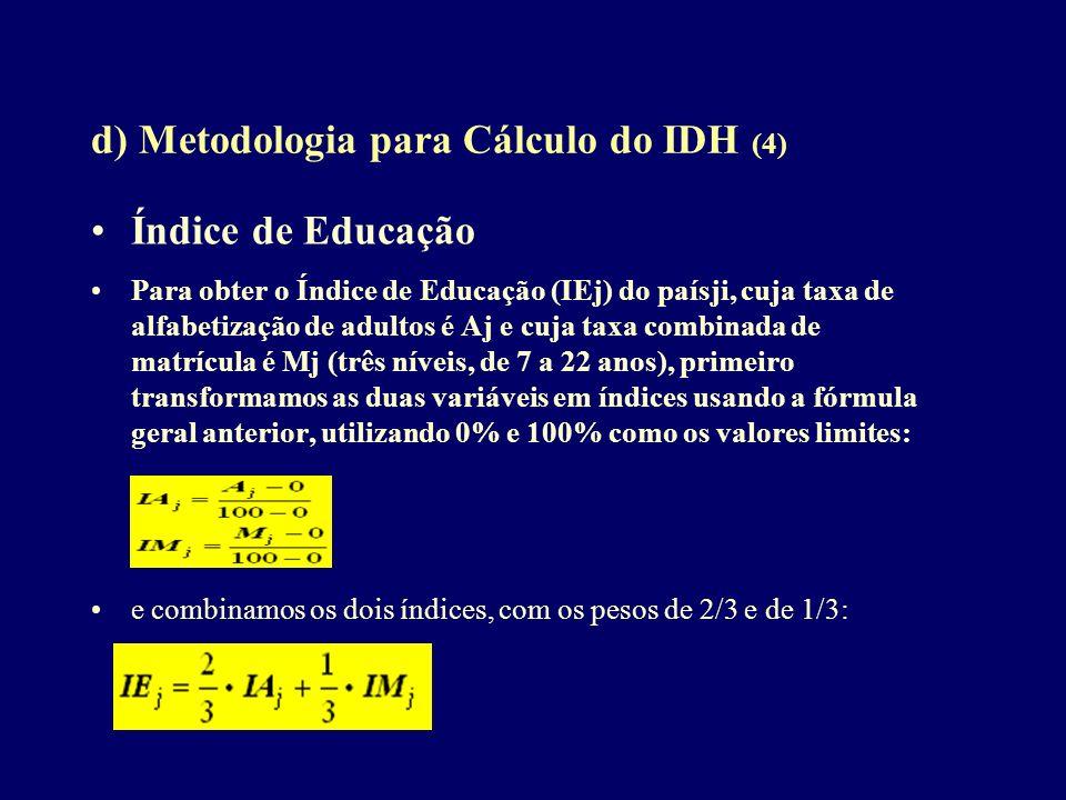 d) Metodologia para Cálculo do IDH (4)
