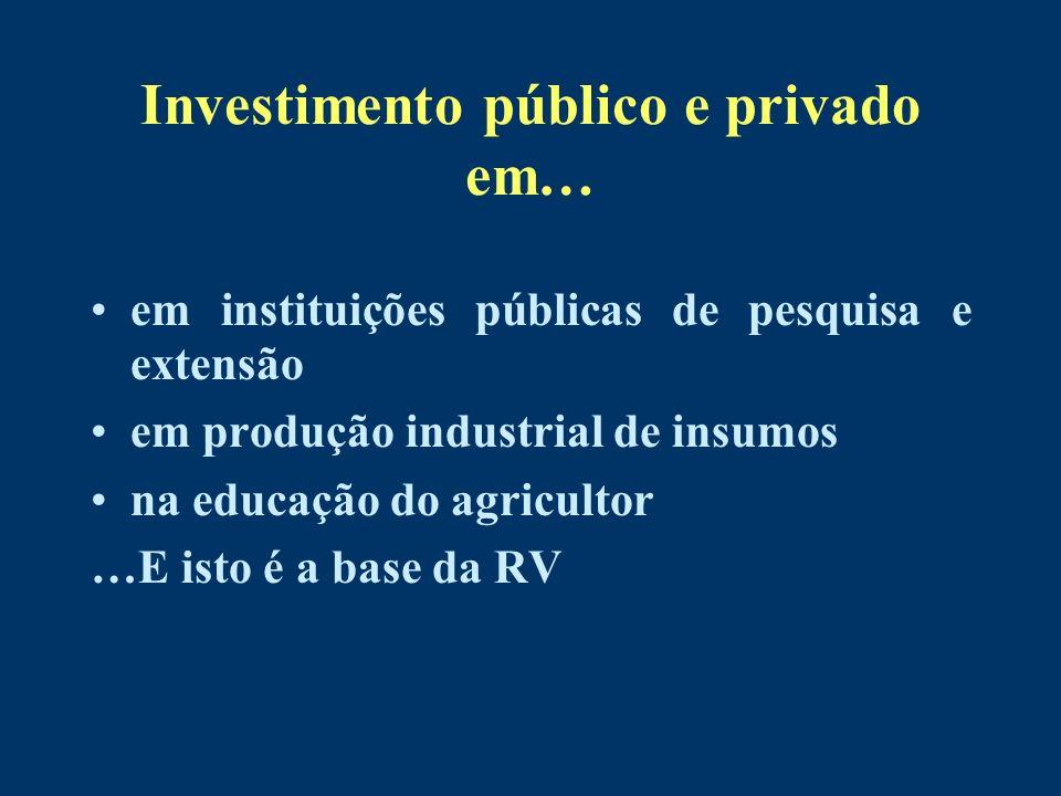 Investimento público e privado em…
