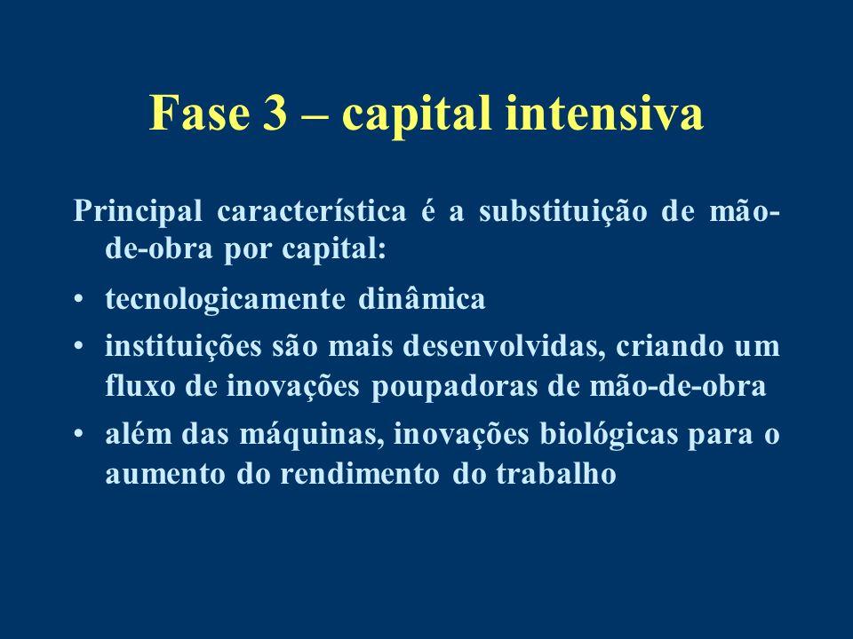 Fase 3 – capital intensiva