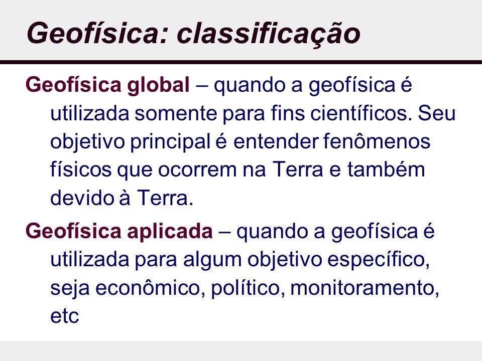 Geofísica: classificação