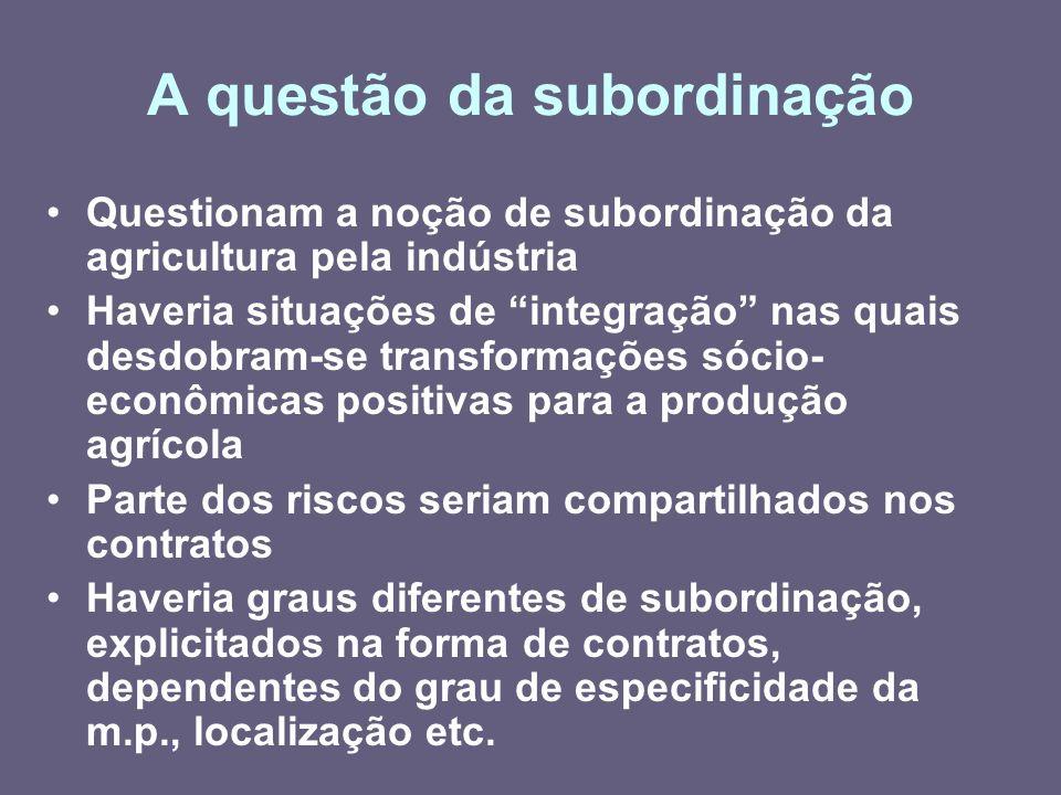 A questão da subordinação