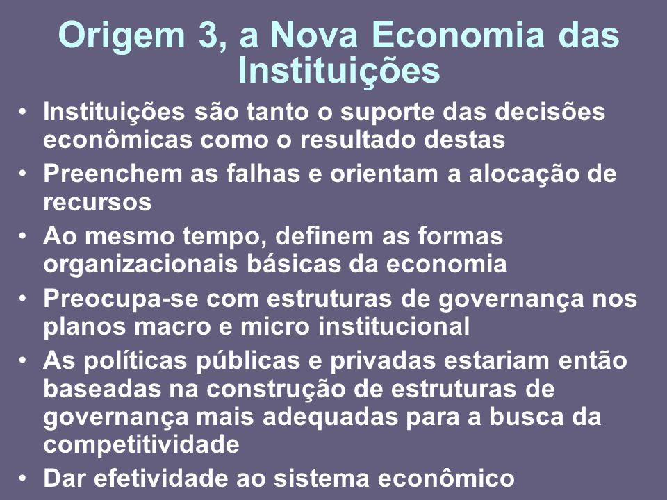 Origem 3, a Nova Economia das Instituições