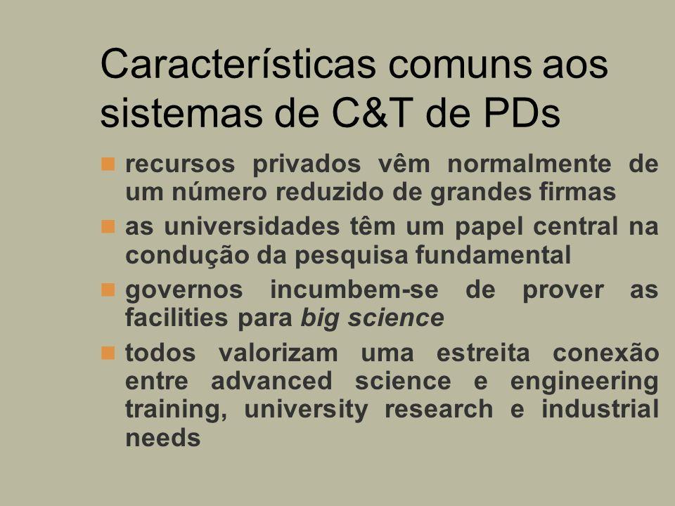 Características comuns aos sistemas de C&T de PDs