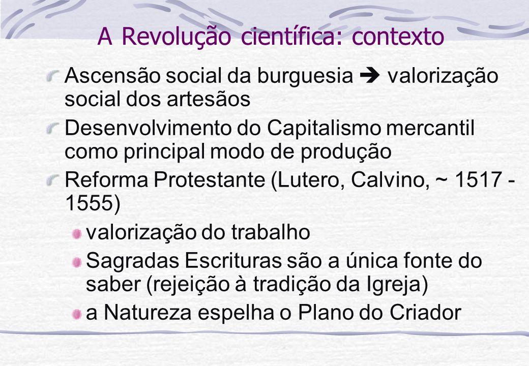 A Revolução científica: contexto