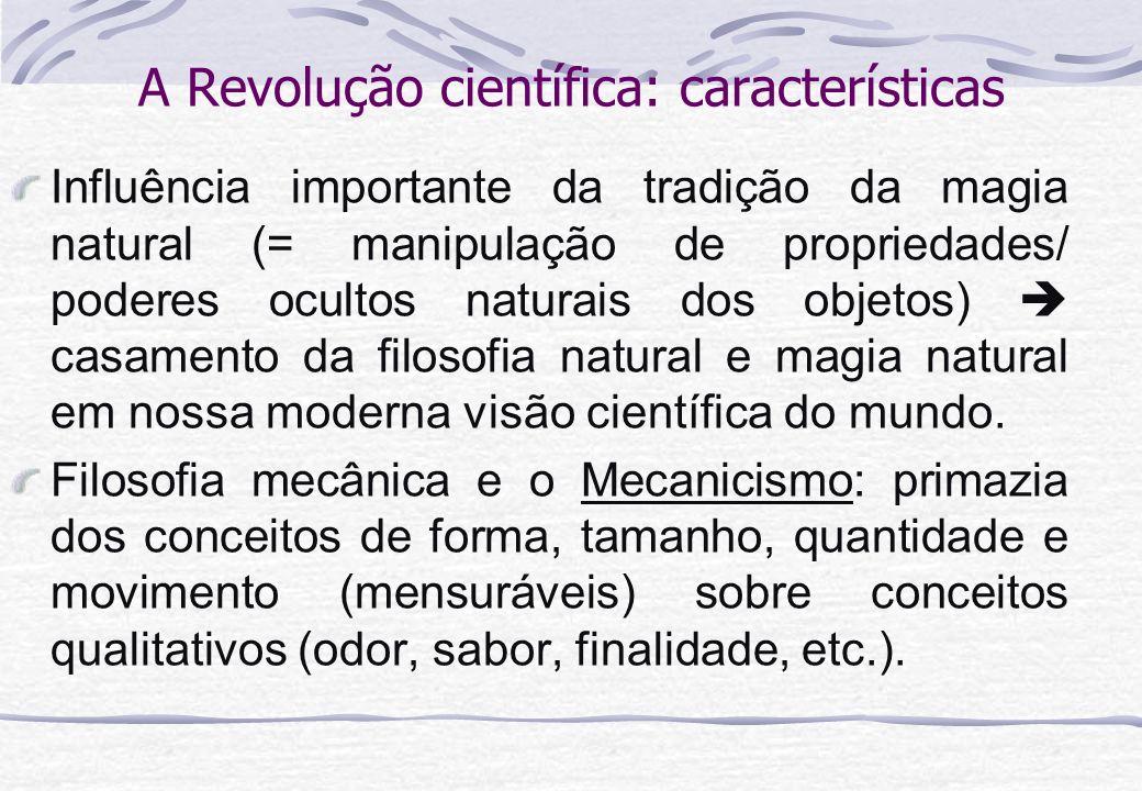 A Revolução científica: características