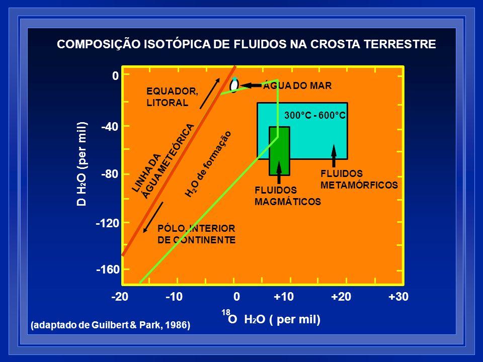 COMPOSIÇÃO ISOTÓPICA DE FLUIDOS NA CROSTA TERRESTRE