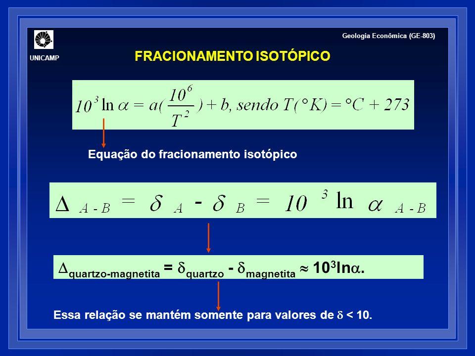 quartzo-magnetita = quartzo - magnetita  103ln.