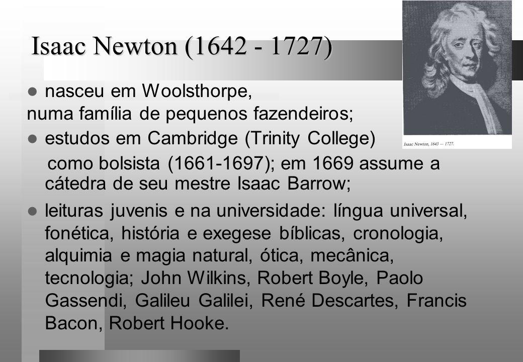 Isaac Newton (1642 - 1727) nasceu em Woolsthorpe,