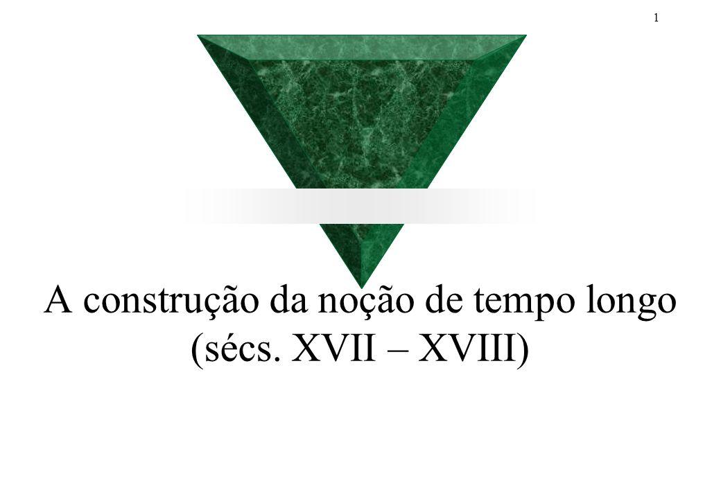 A construção da noção de tempo longo (sécs. XVII – XVIII)