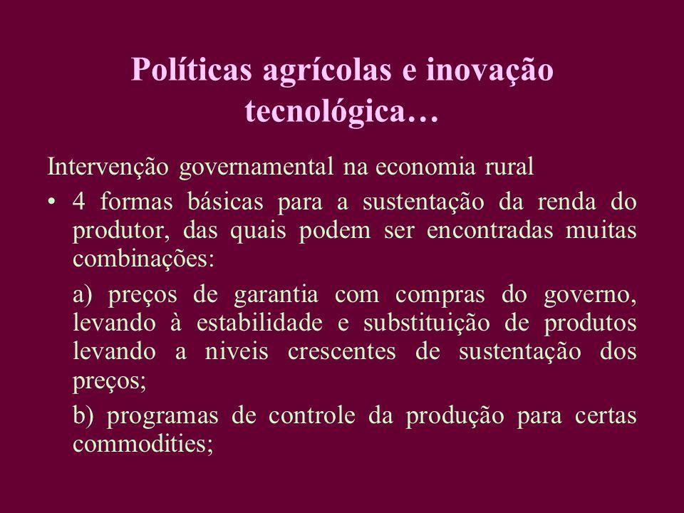 Políticas agrícolas e inovação tecnológica…