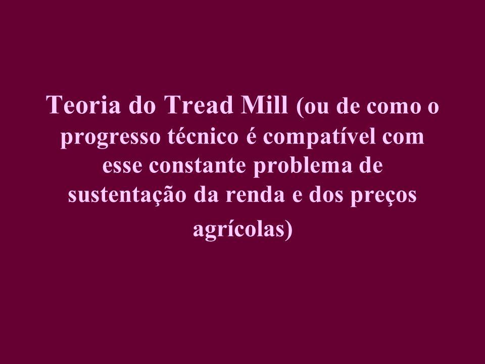 Teoria do Tread Mill (ou de como o progresso técnico é compatível com esse constante problema de sustentação da renda e dos preços agrícolas)