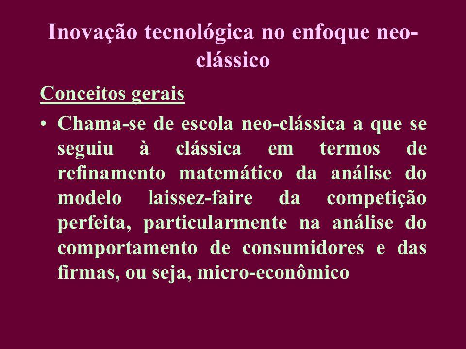 Inovação tecnológica no enfoque neo-clássico