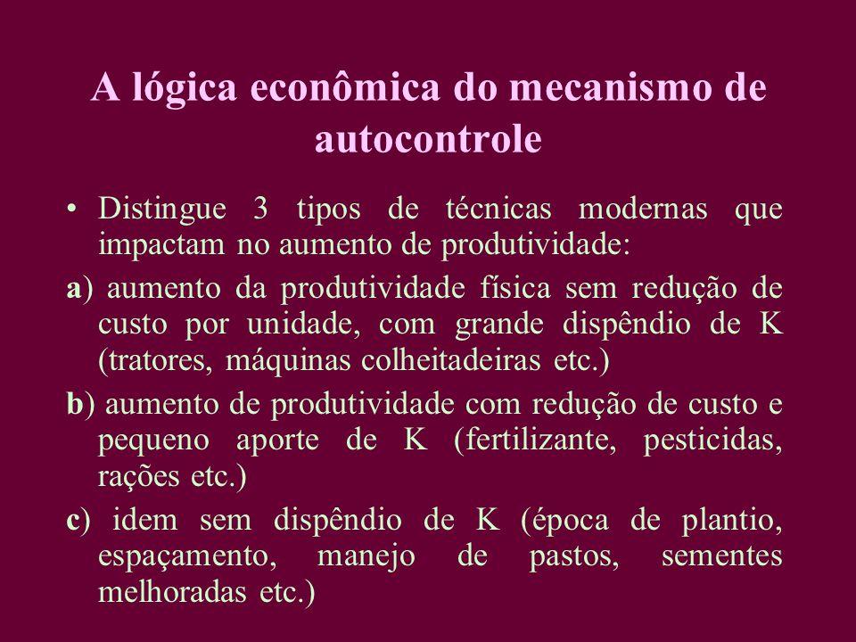 A lógica econômica do mecanismo de autocontrole