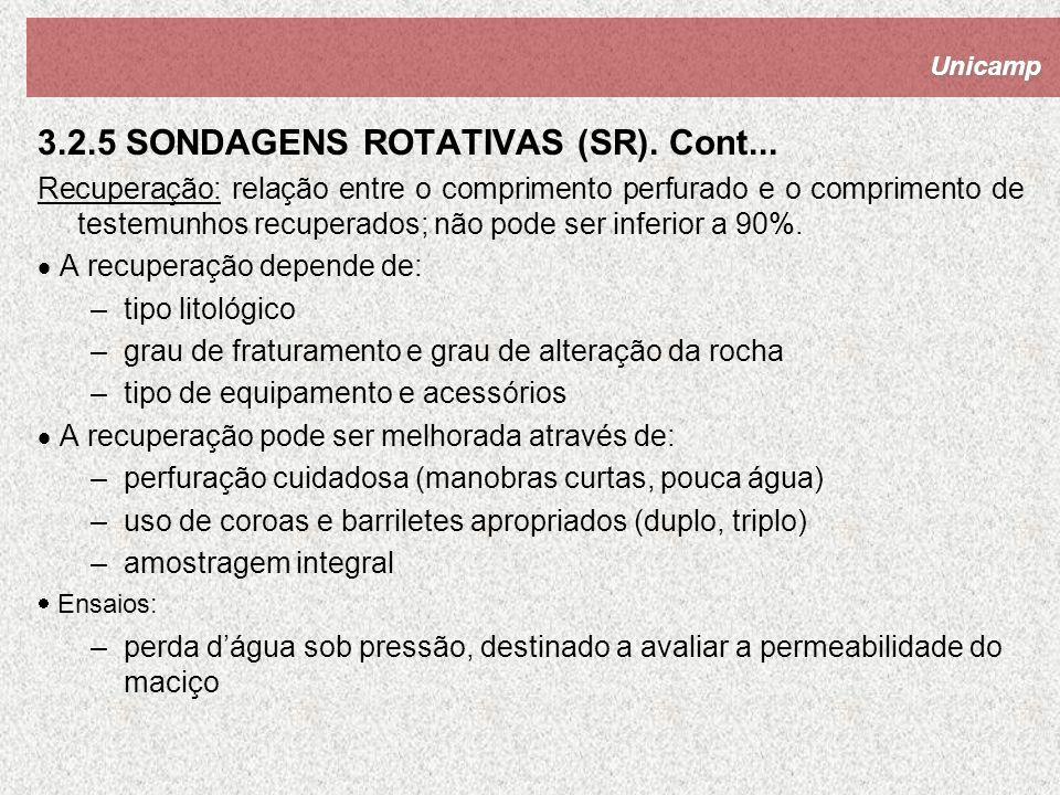 3.2.5 SONDAGENS ROTATIVAS (SR). Cont...