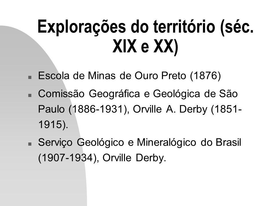 Explorações do território (séc. XIX e XX)