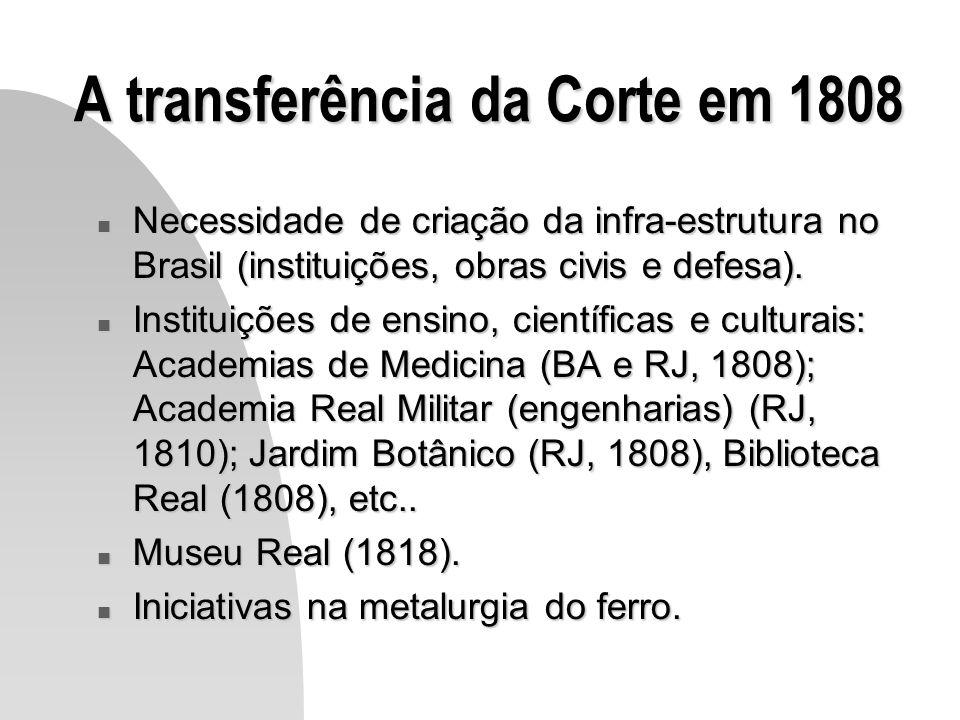 A transferência da Corte em 1808