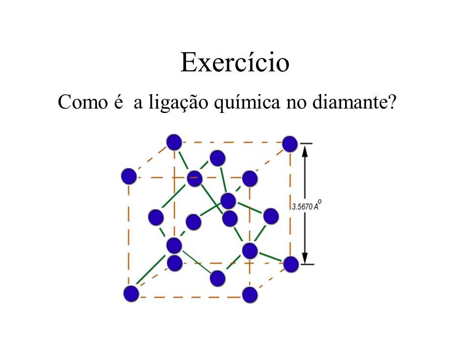 Exercício Como é a ligação química no diamante