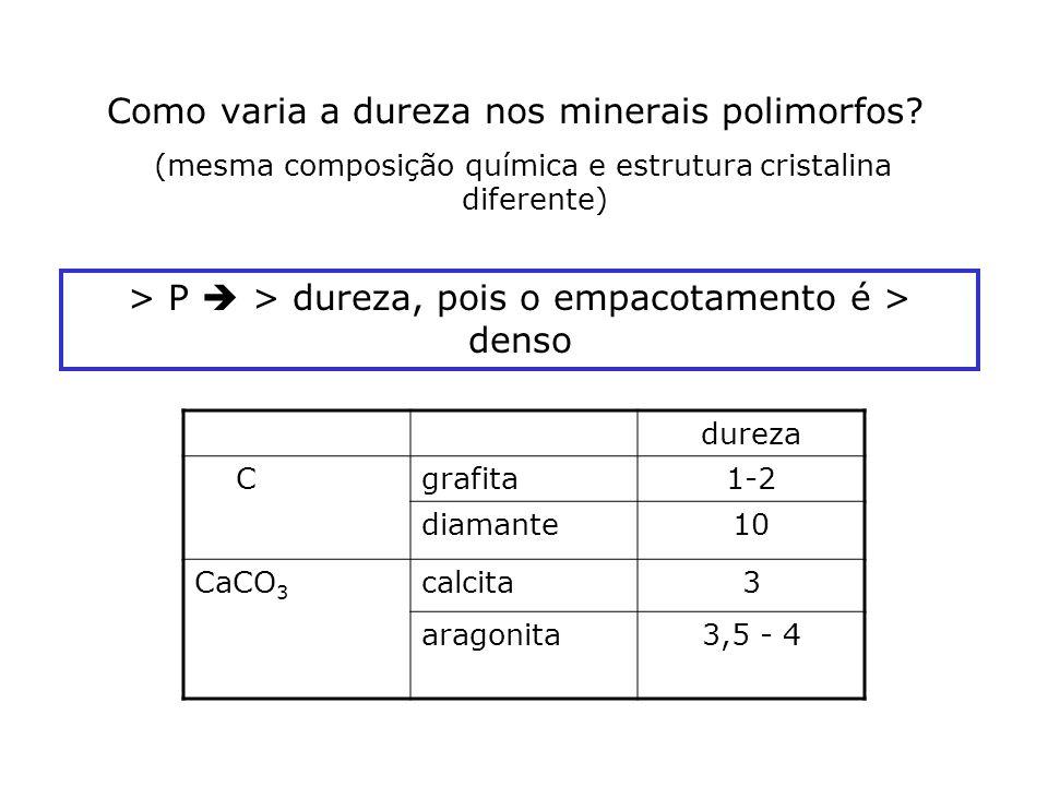 (mesma composição química e estrutura cristalina diferente)