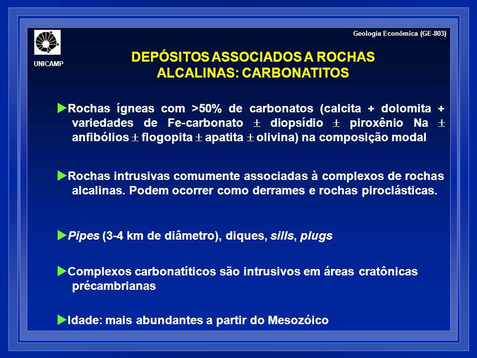 DEPÓSITOS ASSOCIADOS A ROCHAS ALCALINAS: CARBONATITOS