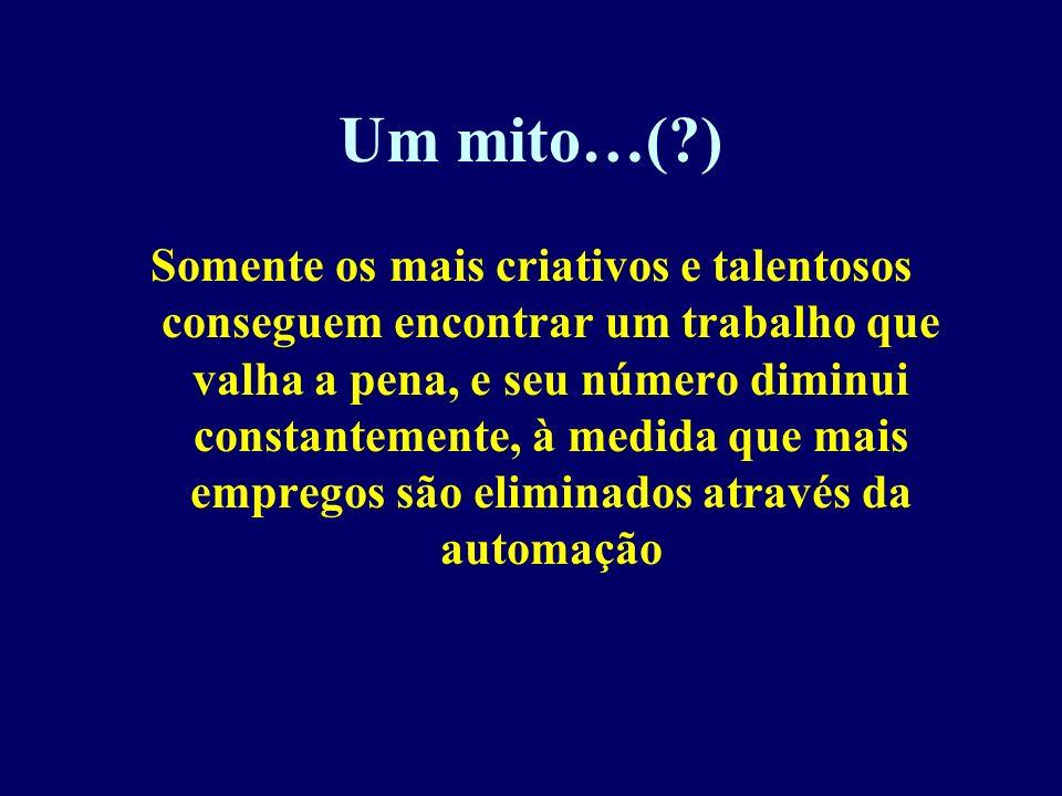Um mito…( )