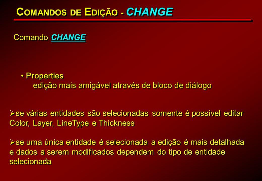 COMANDOS DE EDIÇÃO - CHANGE