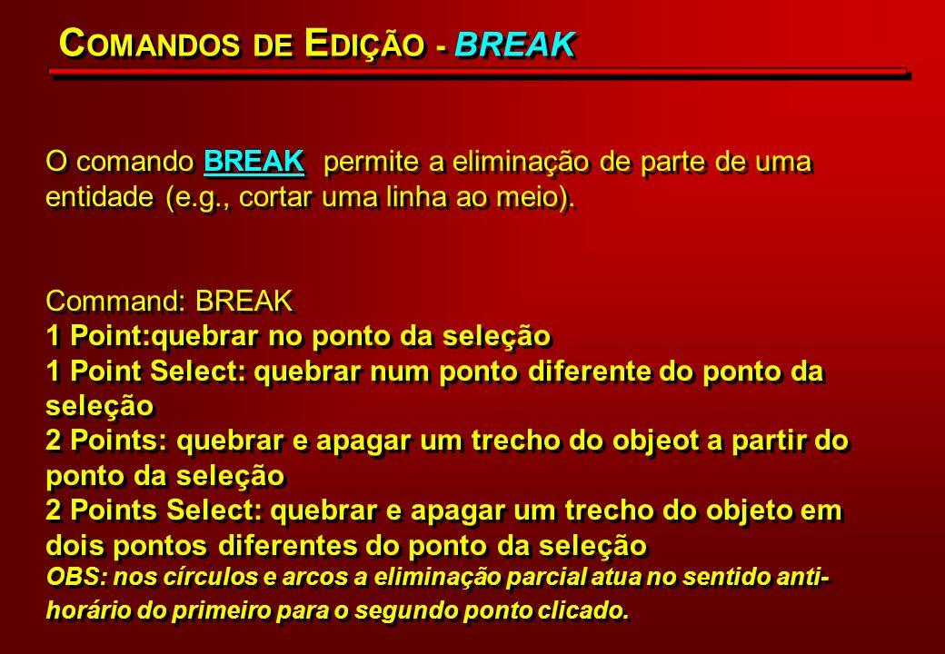 COMANDOS DE EDIÇÃO - BREAK