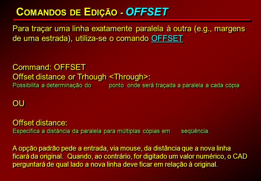 COMANDOS DE EDIÇÃO - OFFSET