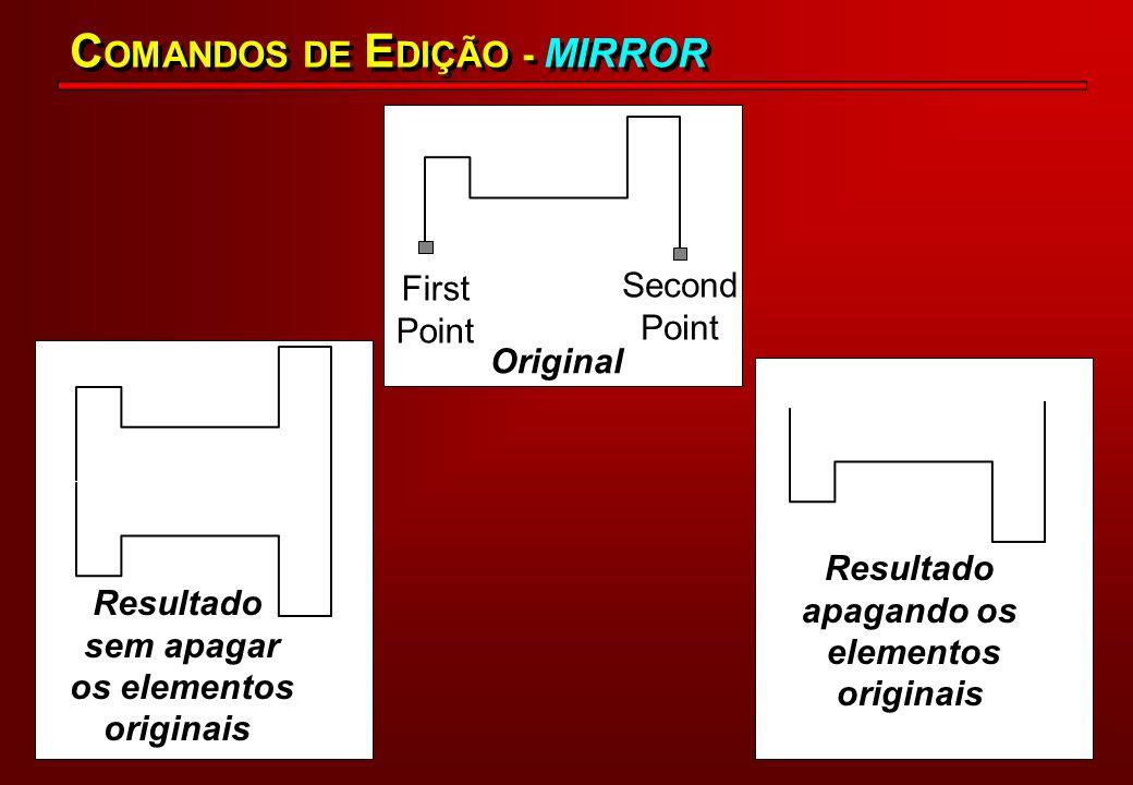 COMANDOS DE EDIÇÃO - MIRROR