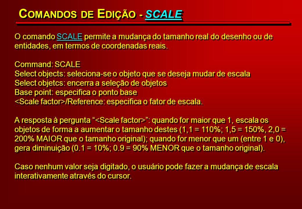 COMANDOS DE EDIÇÃO - SCALE