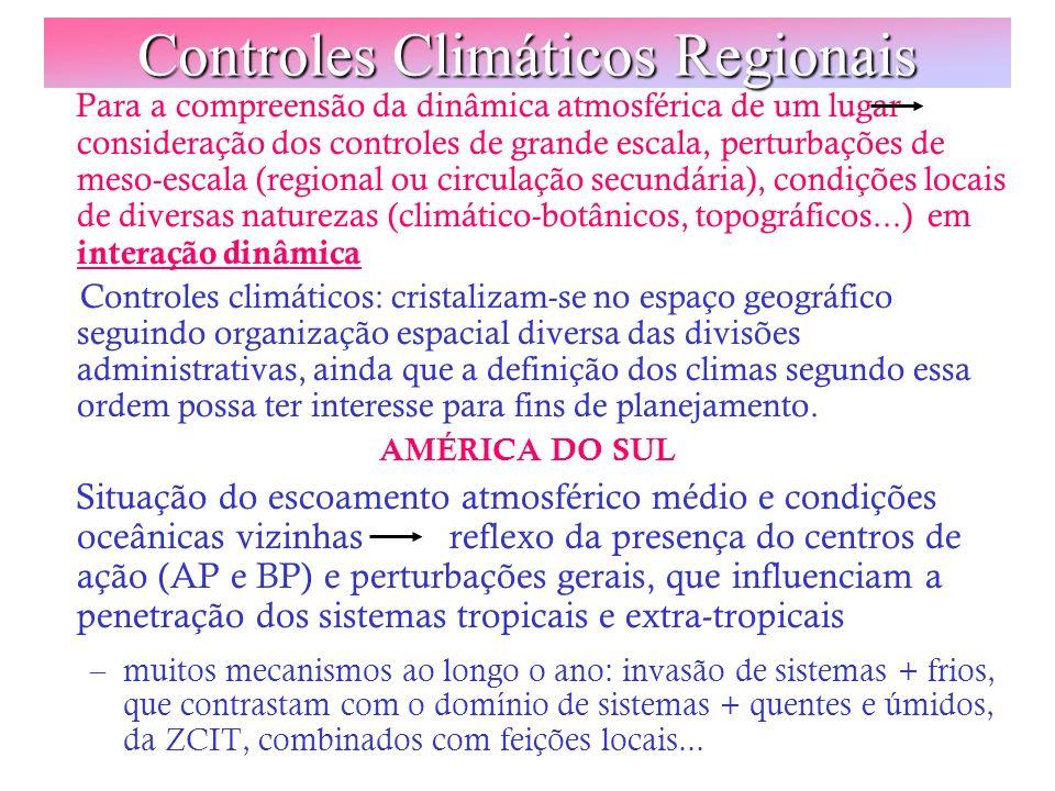 Controles Climáticos Regionais