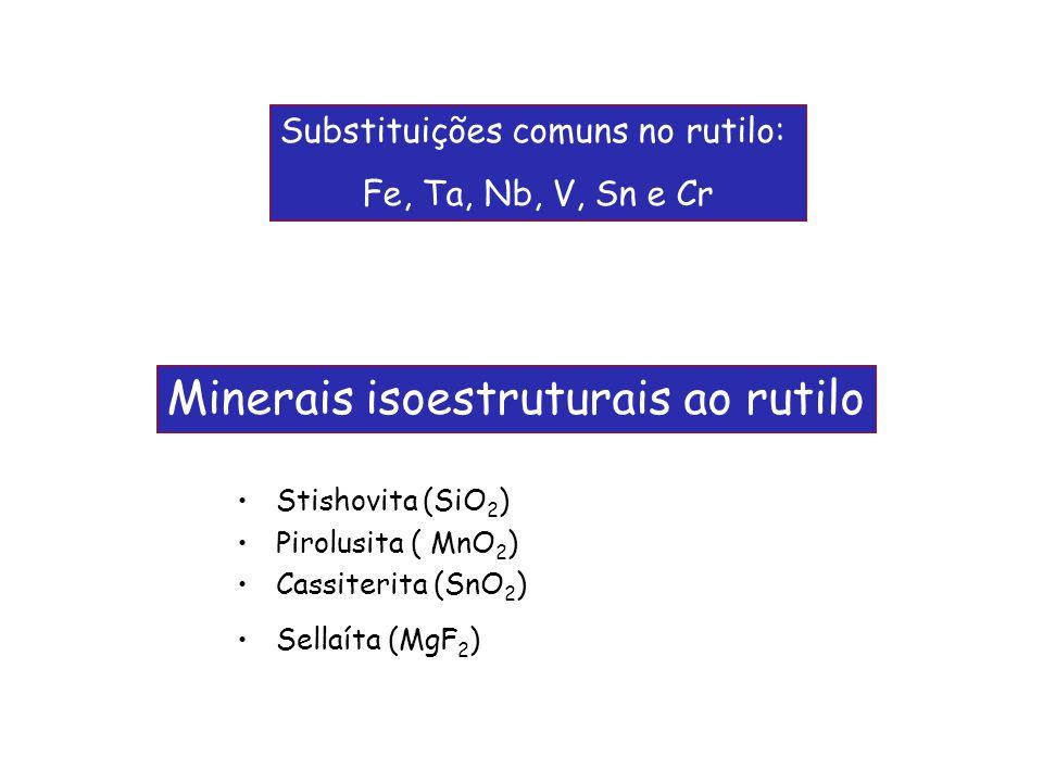Minerais isoestruturais ao rutilo