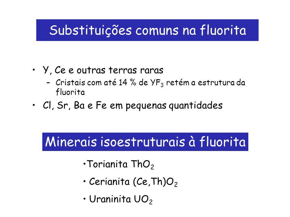 Substituições comuns na fluorita