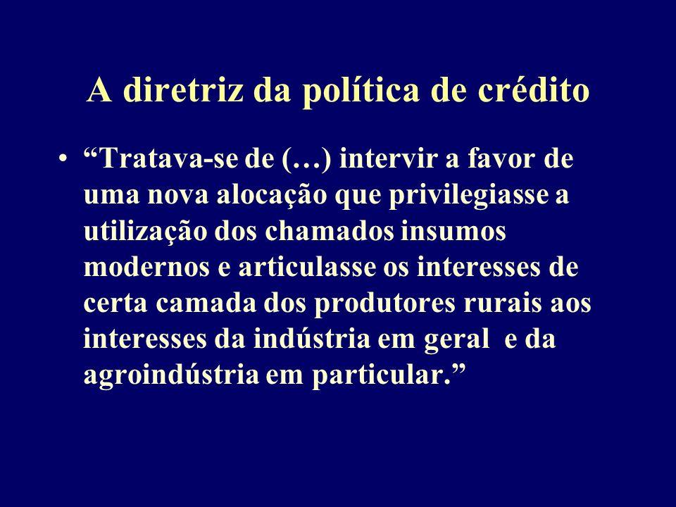 A diretriz da política de crédito
