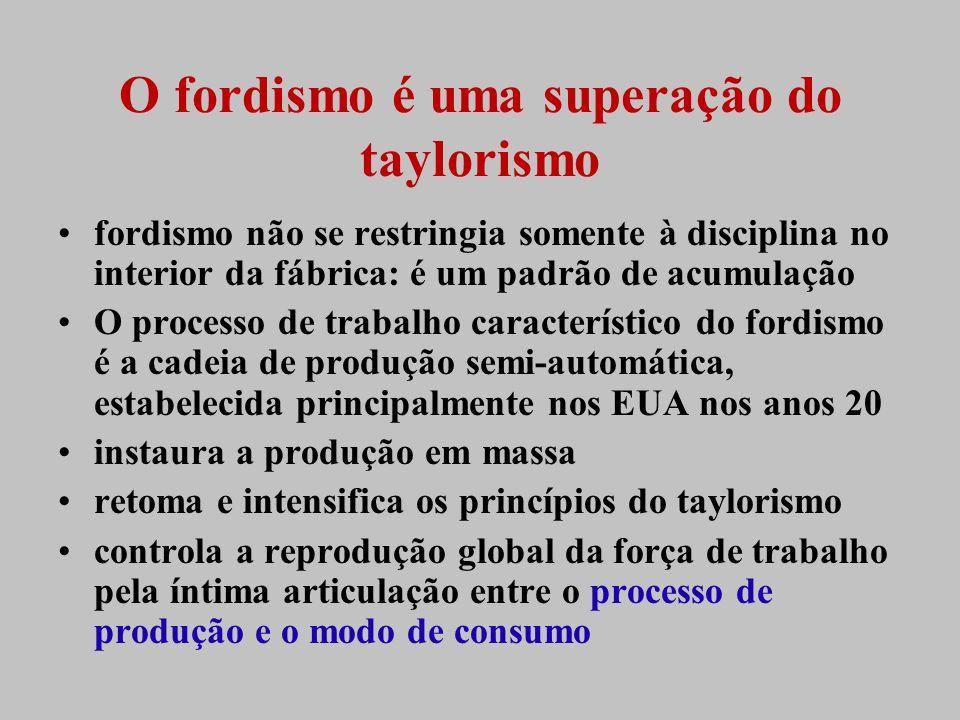 O fordismo é uma superação do taylorismo