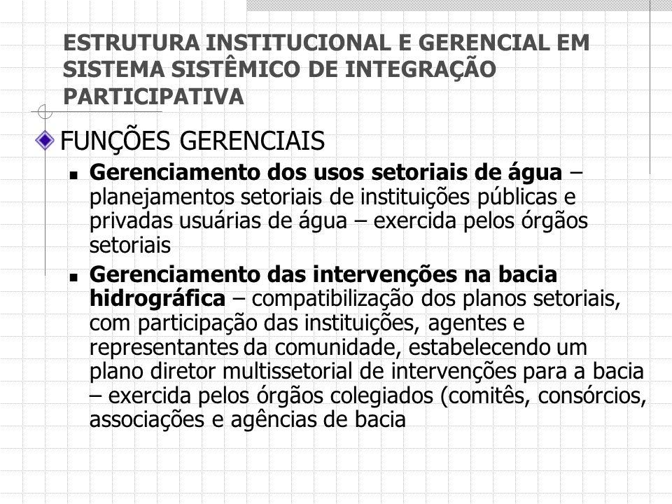 ESTRUTURA INSTITUCIONAL E GERENCIAL EM SISTEMA SISTÊMICO DE INTEGRAÇÃO PARTICIPATIVA