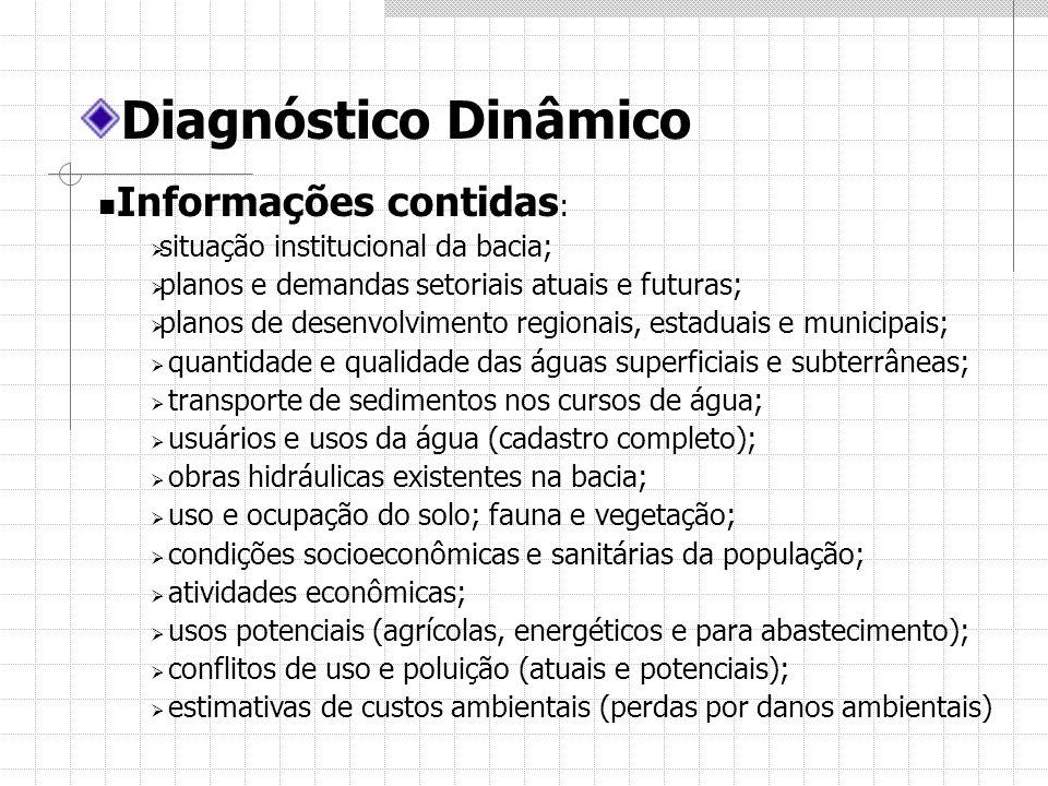 Diagnóstico Dinâmico Informações contidas: