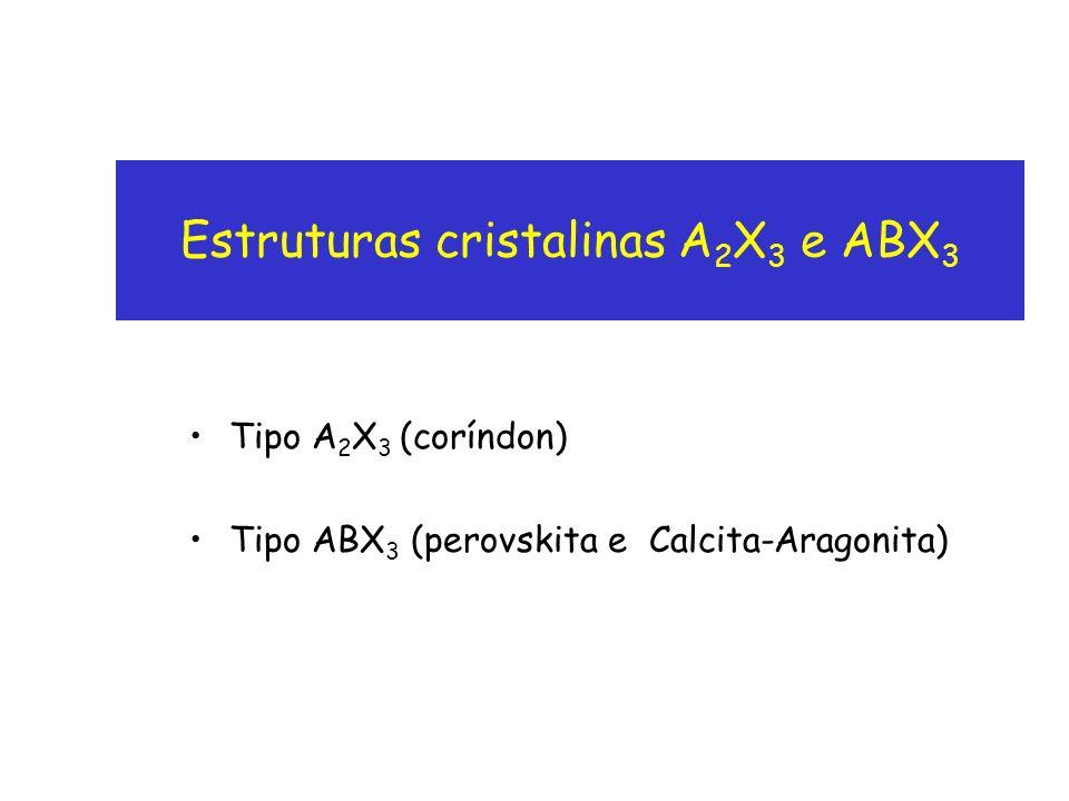 Estruturas cristalinas A2X3 e ABX3