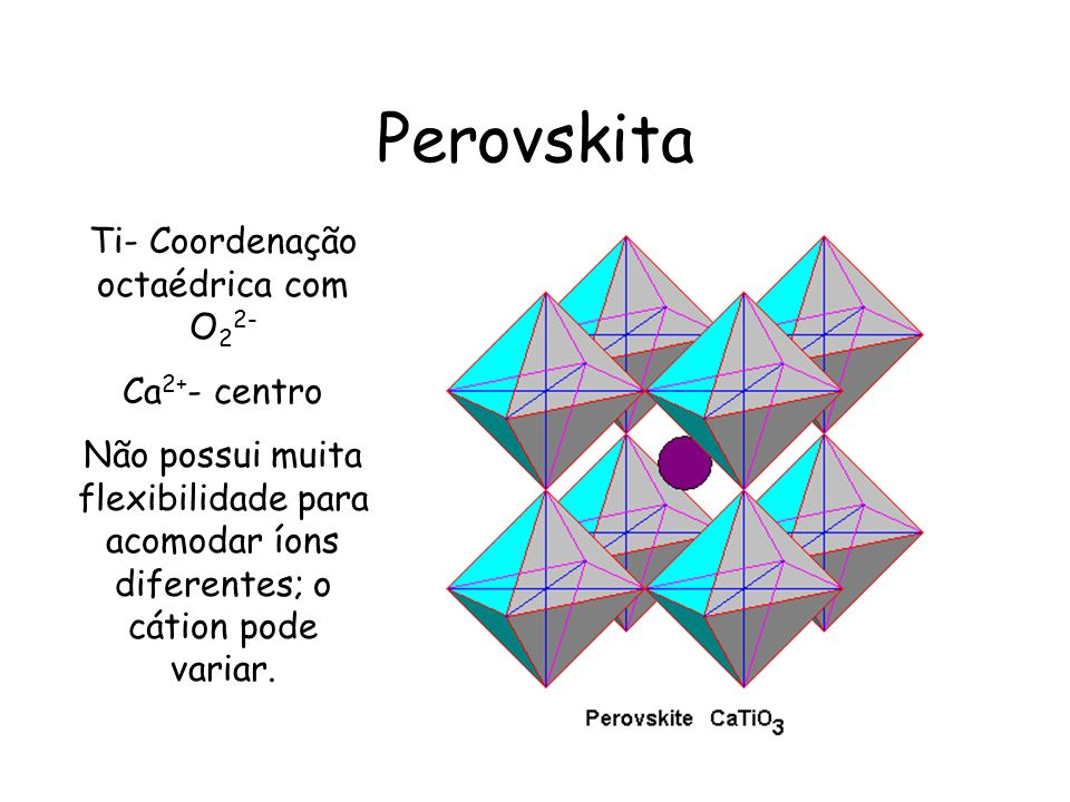 Ti- Coordenação octaédrica com O22-