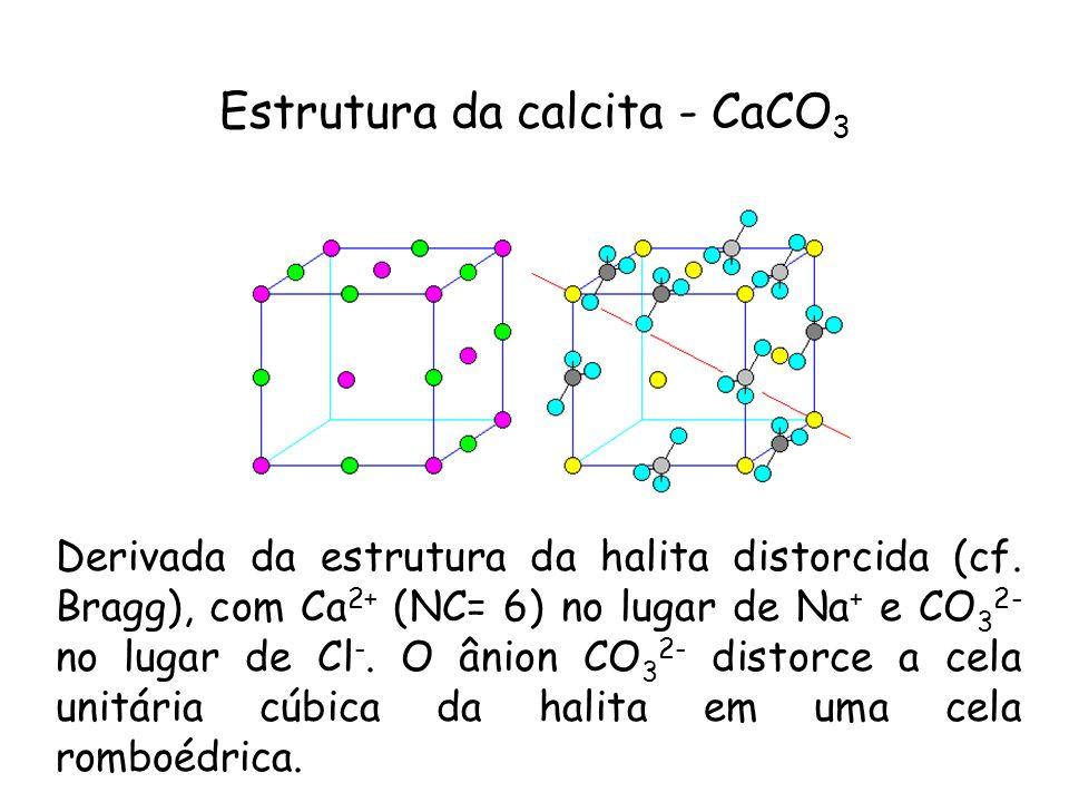 Estrutura da calcita - CaCO3