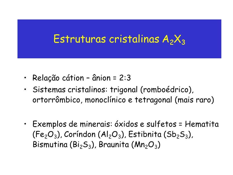 Estruturas cristalinas A2X3