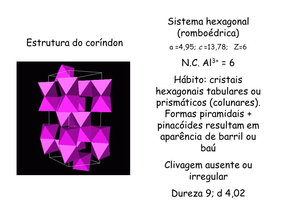 Sistema hexagonal (romboédrica)